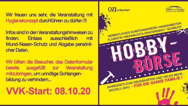 37. Hobby-Börse (mit Hygienekonzept)