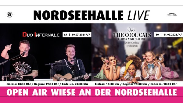 NORDSEEHALLE LIVE - Open Air mit The Cool Cats (11.07.)