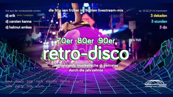 70er/80er/90er Retro – Disco / Live-Stream